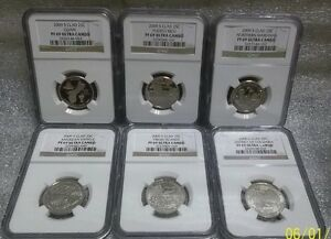 2009 S PROOF SET DISTRICT OF COLUMBIA/TERRITORIAL QUARTERS GRADED BY NGC PF69UC