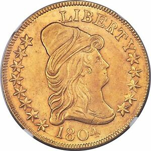 Click now to see the BUY IT NOW Price! 1804 DRAPED BUST 10.00 GOLD EAGLE NGC UNC DETAILS  LOW MINTAGE