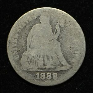 1888 SEATED LIBERTY SILVER DIME  BB349