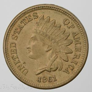1861 1C INDIAN HEAD SMALL CENT BU /T 660