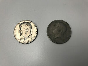 LOT OF 2 1971 AND 1980 HALF DOLLARS KENNEDY
