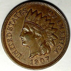 1907 1C INDIAN HEAD CENT 18STS2101