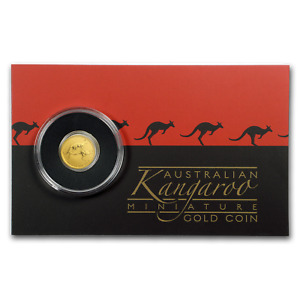 2018 AUSTRALIA 1/2 GRAM GOLD KANGAROO MINI ROO BU  ASSAY CARD    SKU160043