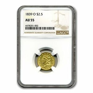 Click now to see the BUY IT NOW Price! 1839 O $2.50 GOLD CLASSIC HEAD AU 55 NGC   SKU155209