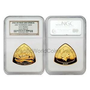 Click now to see the BUY IT NOW Price! BERMUDA 2007 SAN PEDRO $30 GOLD NGC GEM PROOF FIRST 300 STRUCK