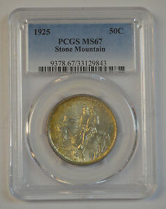 Click now to see the BUY IT NOW Price! STONE MOUNTAIN 1925 50C SILVER COMMEMORATIVE PCGS MS67