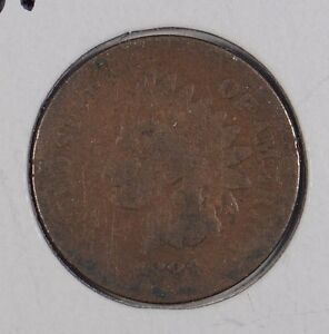 1881 1C BN INDIAN CENT GOOD CONDITION 160137