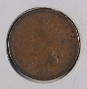 1881 1C BN INDIAN CENT GOOD CONDITION 160788