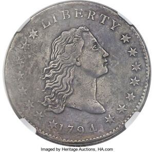 Click now to see the BUY IT NOW Price! 1794 FLOWING HAIR SILVER DOLLAR  NGC VF B 1 BB 1 R 4  COIN & GREAT DETAILS