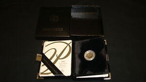 2002 PLATINUM EAGLE PROOF $10 1/10OZ. W/BOX & COA  WG24