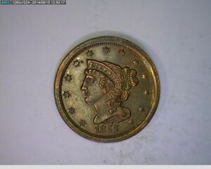 1855 HALF CENT BRAIDED HAIR    1 82