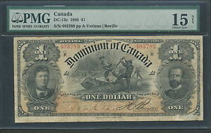 Click now to see the BUY IT NOW Price! 1898 DOMINION OF CANADA $1 ONE DOLLAR F 15 PMG DC 13C