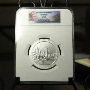 Click now to see the BUY IT NOW Price! 2010 YOSEMITE 5OZ SILVER QUARTER NGC SP70    REV TYE'S STACHE    8003269