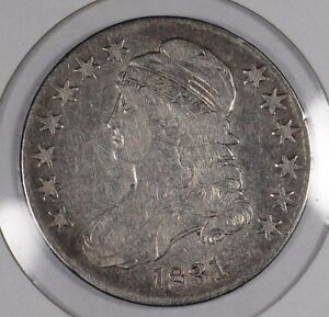 1831 50C CAPPED BUST HALF DOLLAR FINE CONDITION 167226