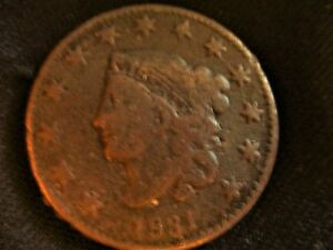 1831 U.S. COIN: MATRON HEAD LARGE CENT