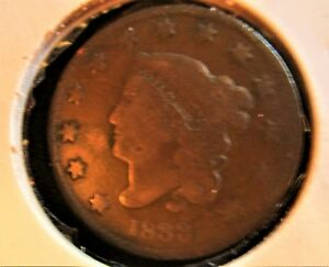 1833 U.S. COIN: MATRON HEAD LARGE CENT