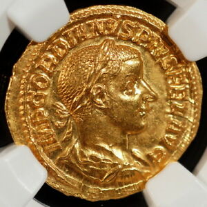 Click now to see the BUY IT NOW Price! AD 238 244 ROMAN EMPIRE GORDIAN III AV  GOLD  AUREUS  24MM 4.82G  NGC CH MS