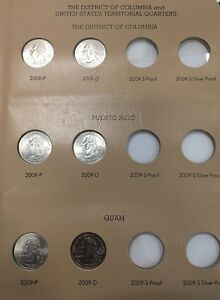 DANSCO 8145 WITH 2009 UNCIRCULATED P AND D DC/TERRITORIES QUARTERS FROM MINT