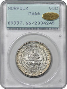 Click now to see the BUY IT NOW Price! 1936 NORFOLK COMMEMORATIVE HALF DOLLAR PCGS MS 66 GOLD CAC RATTLER WOW