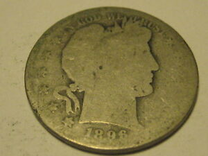 1896 S BARBER HALF DOLLAR KEY DATE
