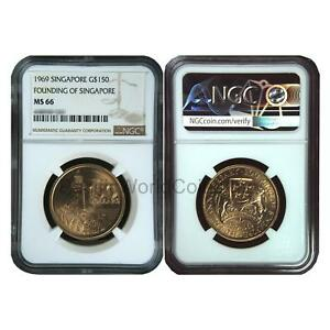 Click now to see the BUY IT NOW Price! SINGAPORE 1969 FOUNDING OF SINGAPORE $ 150 GOLD NGC MS66 SKU 6627