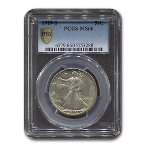 Click now to see the BUY IT NOW Price! 1919 S WALKING LIBERTY HALF DOLLAR MS 66 PCGS   SKU171712