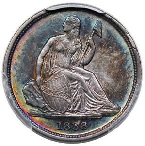 Click now to see the BUY IT NOW Price! 1838 O SEATED DIME NO STARS PCGS AU 55 GREAT COLOR