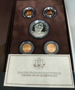2009 LINCOLN COIN CHRONICLES SET WITH PAPERS