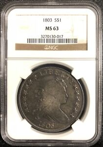 Click now to see the BUY IT NOW Price! 1803 DRAPED BUST SILVER DOLLAR. BB 252 B 5. NGC MS 63