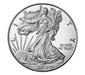 BUY SPECIAL GIFT  1 OZ  2018 .999 AM SILVER EAGLE$1COINS BU  COA AT HLDR EXTRAS