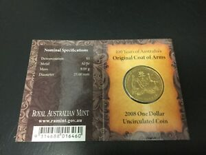 2008 DOLLAR RAM $1 UNC   COAT OF ARMS B PRIVYMARK  MINTMARK