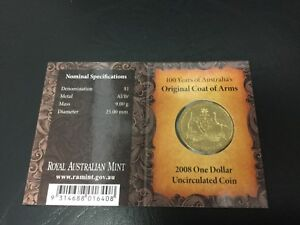 2008 DOLLAR RAM $1 UNC   COAT OF ARMS C PRIVYMARK  MINTMARK