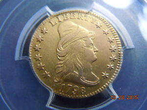 Click now to see the BUY IT NOW Price! 1798 DRAPED BUST 2 1/2 GOLD QUARTER EAGLE PCGS XF DETAILS    1 094 MINTED
