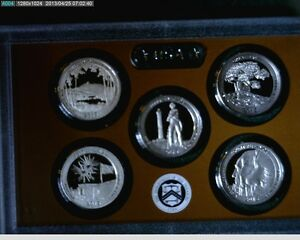 2013 S AMERICAN THE BEAUTIFUL NATIONAL PARK PROOF QUARTERS NO BOX OR COA
