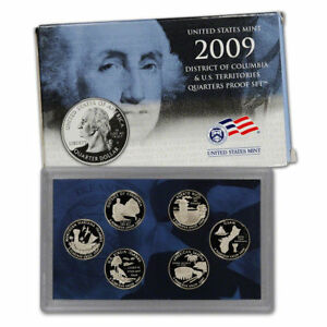 2009 MINT DISTRICT OF COLUMBIA & US TERRITORIES QUARTERS PROOF SETS