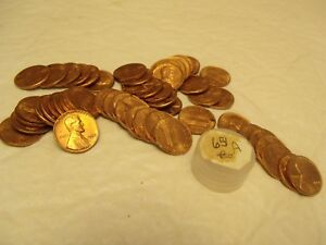 1 ROLL 1965 LINCOLN MEMORIAL PENNIES    LOT A