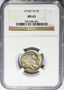Click now to see the BUY IT NOW Price! 1918/7 D 5C BUFFALO NICKEL NGC MS63 ULTRA  AWESOME COIN