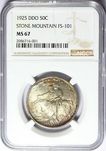 Click now to see the BUY IT NOW Price! 1925 DDO 50C STONE MOUNTAIN FS 101 SILVER COMMEM NGC MS67 TOP POP
