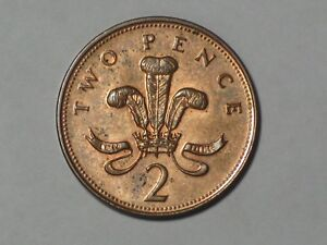 GREAT BRITAIN 2 PENCE 1996 WELSH PLUMES AND CROWN