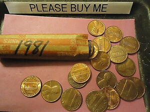 1981 LINCOLN CENT ROLL         > COMBINE POSTAGE <
