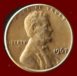 1967 P LINCOLN CENT SHIPS FREE. BUY 5 FOR $2 OFF