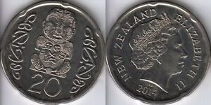 2014 NEW ZEALAND 20 CENT COIN