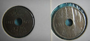 EGYPT 5 AND 10 MILLEMES 1917
