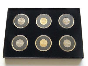 2004 UNC GOLD PLATINUM LOUISIANA PURCHASE JEFFERSON PEACE MEDAL NICKEL COIN SET