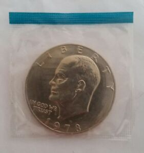 1978 P $1 EISENHOWER BU BICENTENNIAL DOLLAR IN A CELLO PACK 10 DAY LISTING