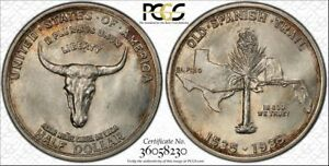 Click now to see the BUY IT NOW Price! 1935 50C SPANISH TRAIL SILVER COMMEM PCGS MS67
