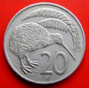 NEW ZEALAND 1974  KIWI  20 CENTS VINTAGE COIN   IN A COLLECTABLE GRADE