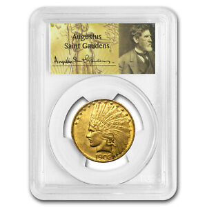 1908 $10 INDIAN GOLD EAGLE NO MOTTO MS 60 PCGS   SKU175940