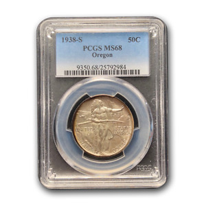 Click now to see the BUY IT NOW Price! 1938 S OREGON COMMEMORATIVE HALF DOLLAR MS 68 PCGS   SKU177936