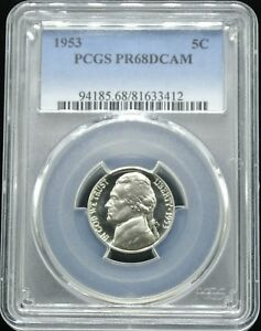 Click now to see the BUY IT NOW Price! 1953 JEFFERSON 5C PCGS PR 68 DCAM